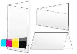 Werbekarte / Einladungskarte, 4-seitig - Werbekarten Industriekunden